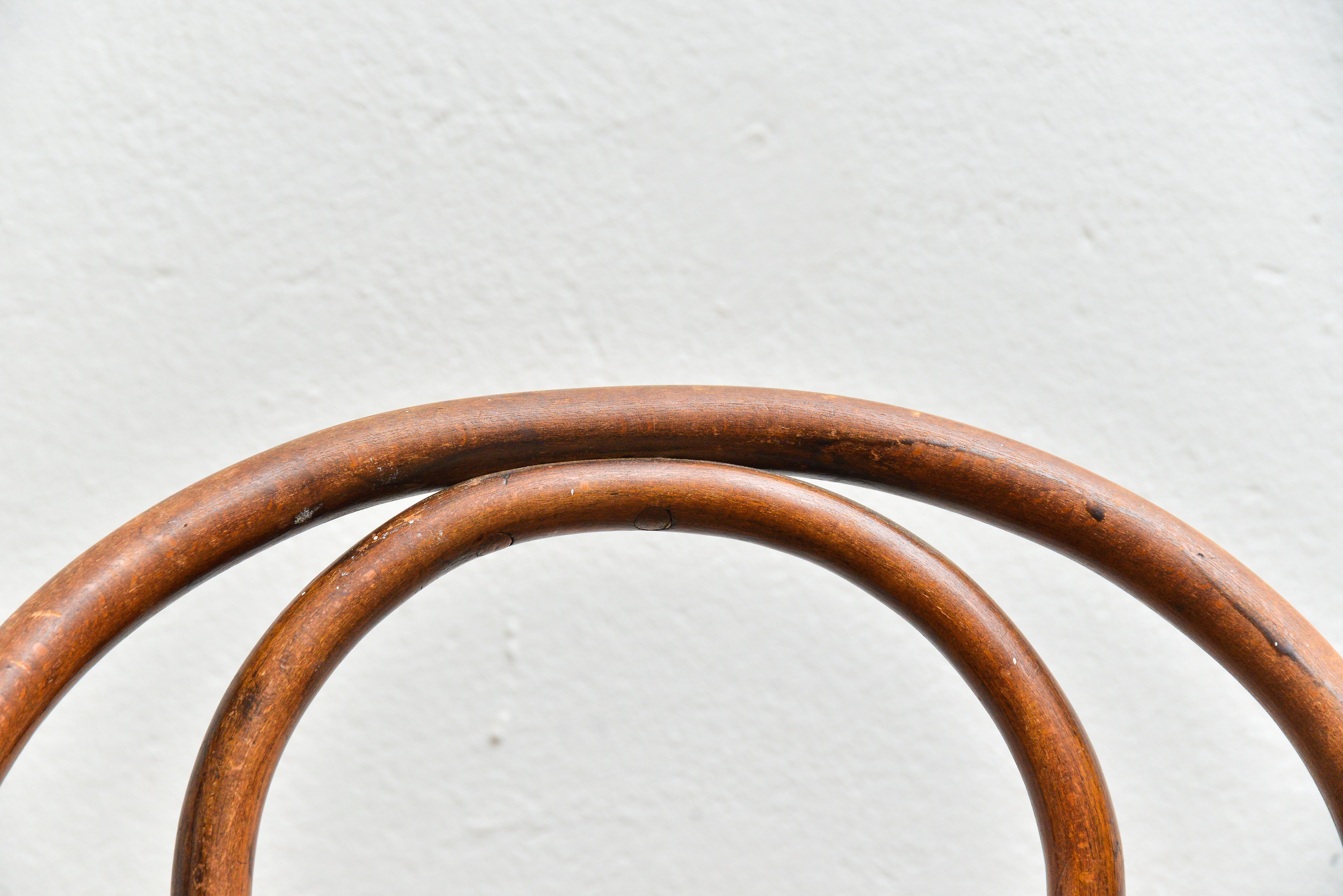 4 sedie Wackerlin in faggio e paglia di Vienna, 4 ...