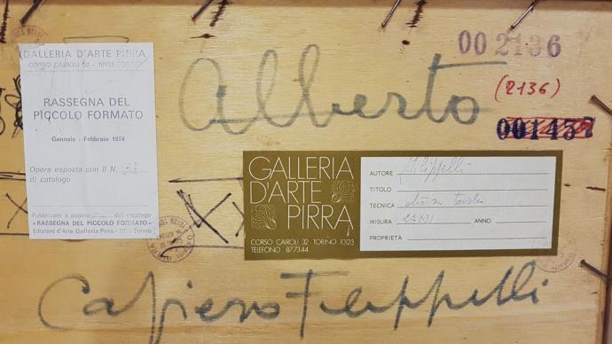 Dettaglio Dipinto Cafiero Filippelli Anni '40 Toscana Interno