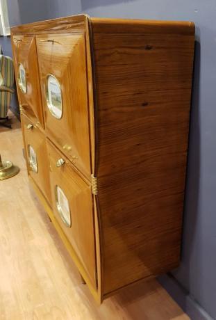 Lato Originale Mobile Bar Anni '50 Modernariato Vintage, Interno illuminato
