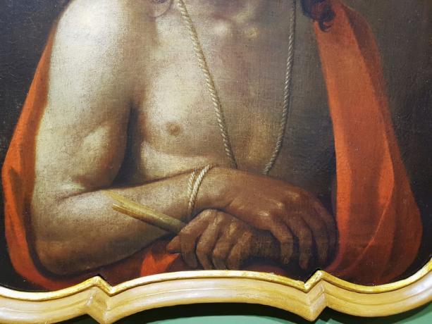 """Dettaglio Dipinto olio su tela """"Ecce Homo"""", prima metà '700"""