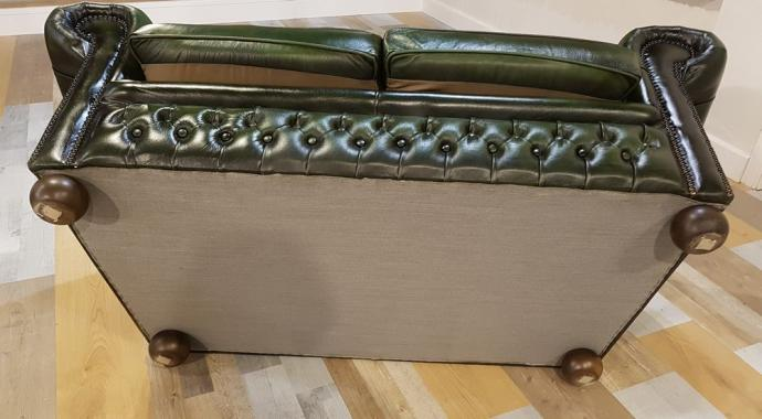 Dettaglio Divano Chesterfield Originale Vintage in pelle  Anni '50