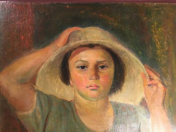 Dettaglio Dipinto Olio su Tavola F. Monzeglio
