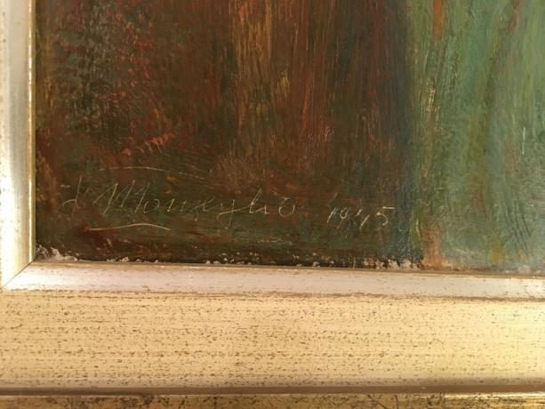 Firma Dipinto Olio su Tavola F. Monzeglio