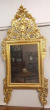 Grande Specchiera Piemonte Legno Dorato Fine '800