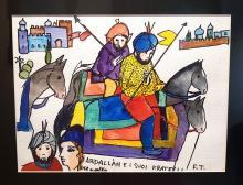 """Frontale Opera di F. Tabusso """" Abdallah e i suoi fratelli""""- con autentica."""